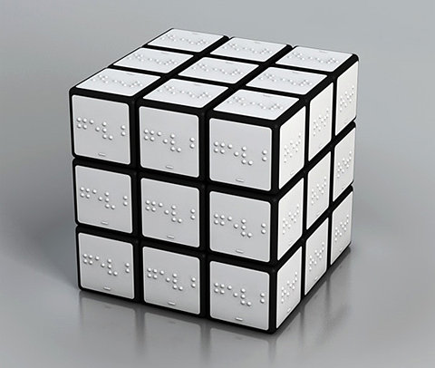 Braille Rubiks Cube for the Blind