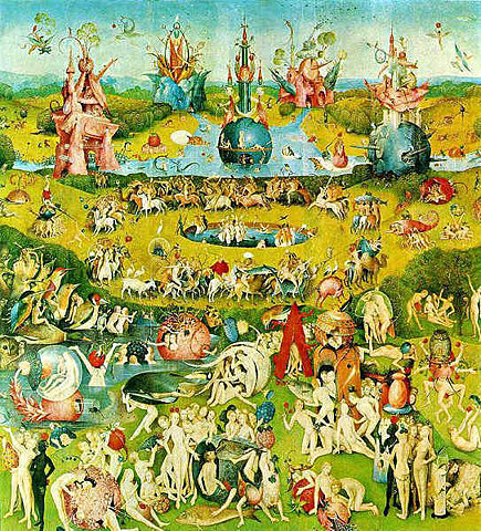Garden of Earthly Delights painting by Hieronymous Bosch